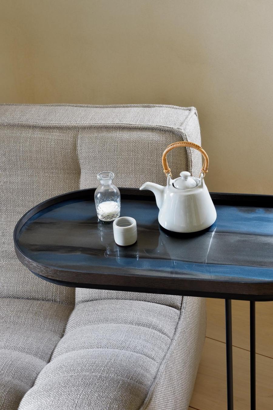 Graphite Organic glazen dienblad - M