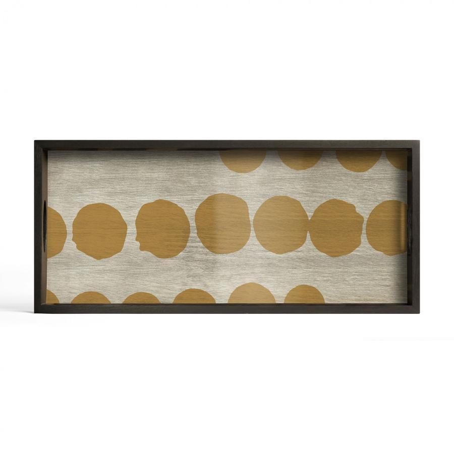 Ethnicraft - Rechthoekige dienbladen - Sienna Dots glazen dienblad - M
