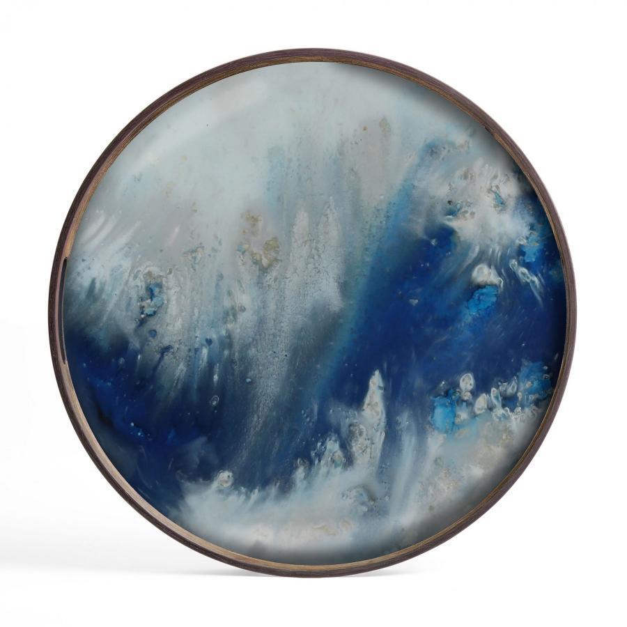 Blue Mist Organic glazen dienblad - S