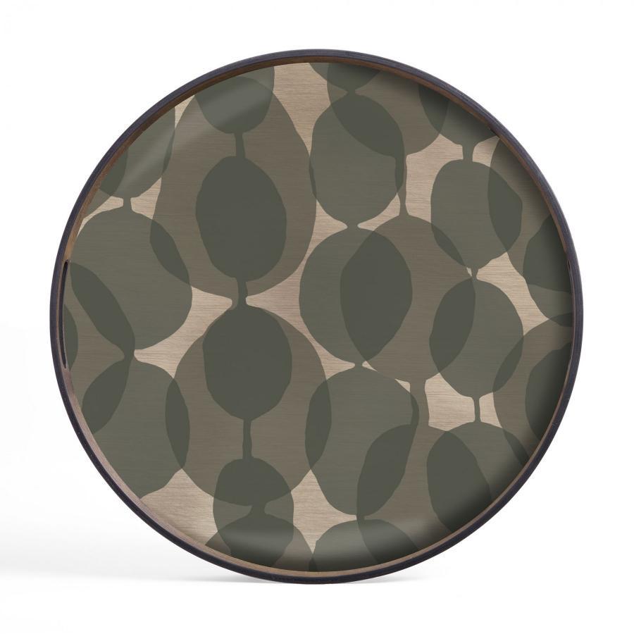 Connected Dots glazen dienblad - S