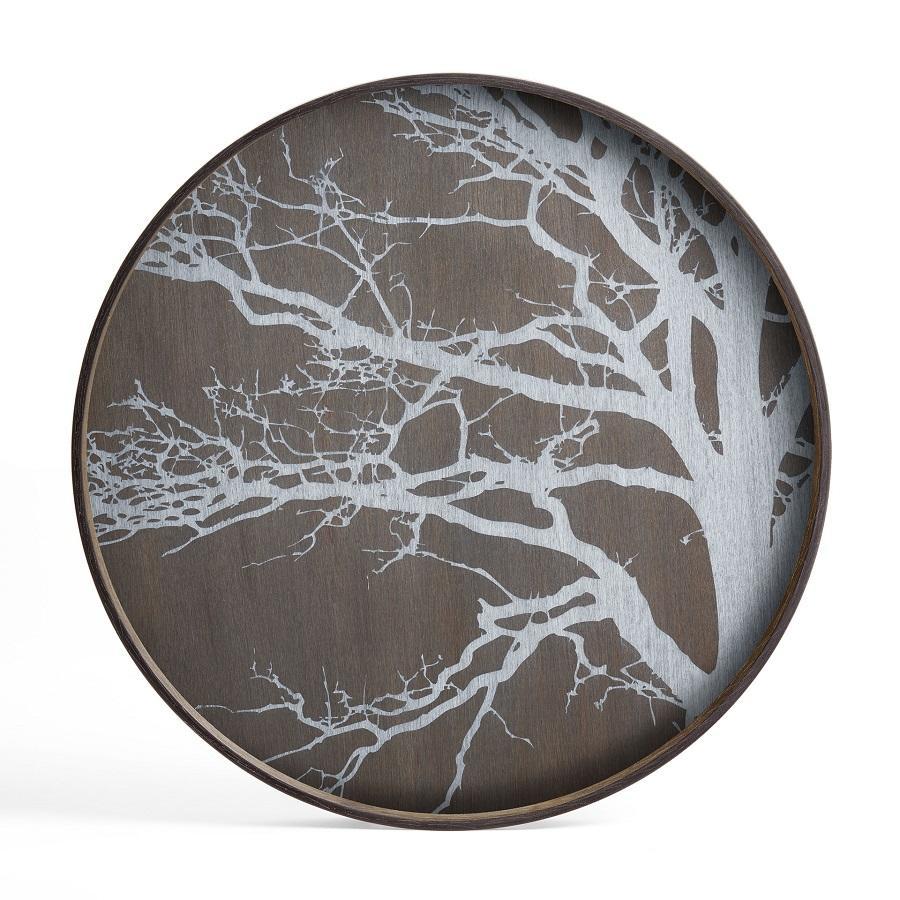 Ethnicraft - Ronde dienbladen - White Tree houten dienblad - L