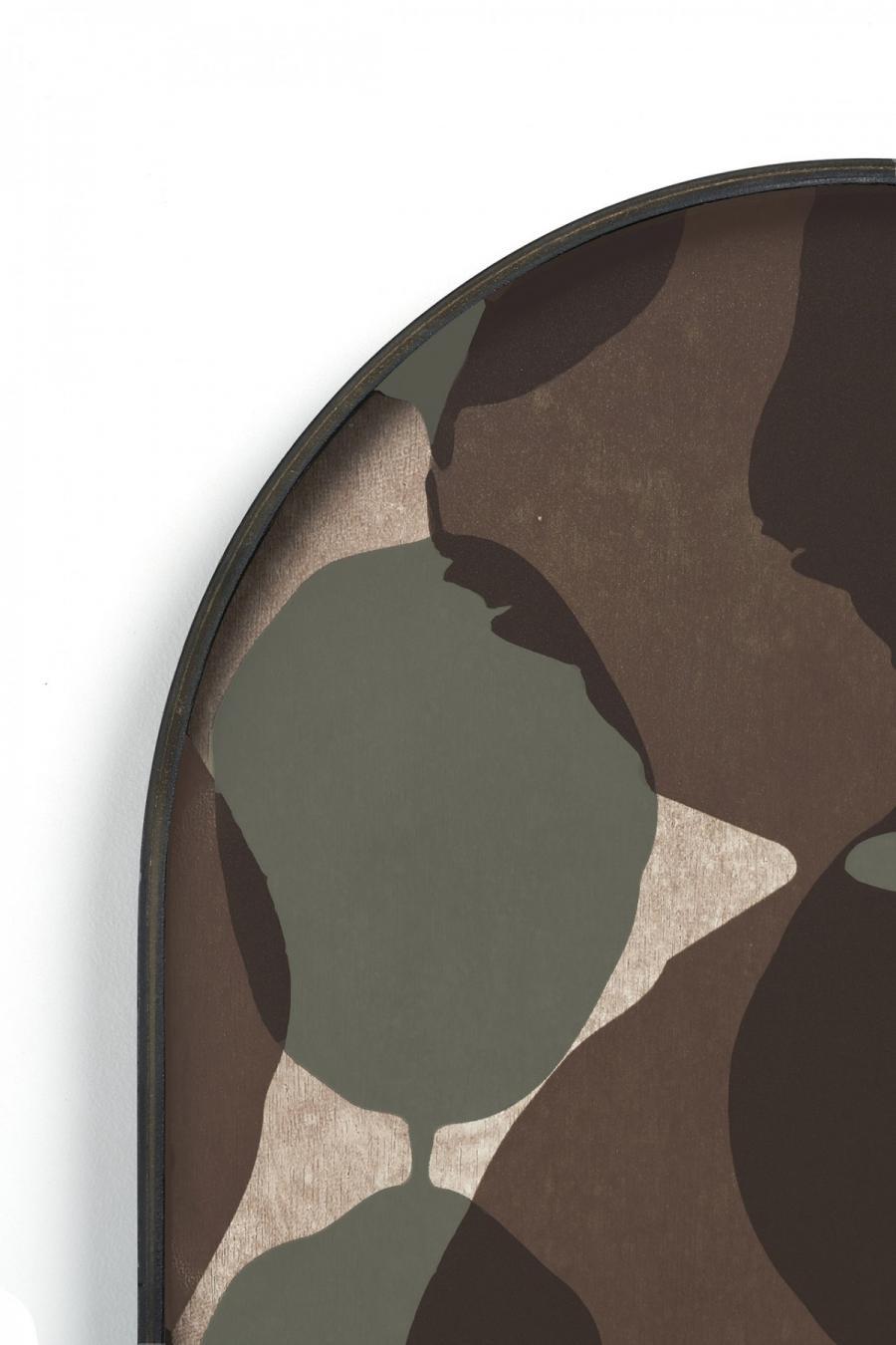 Ethnicraft - Ovalen dienbladen - Connected Dots glazen dienblad - M