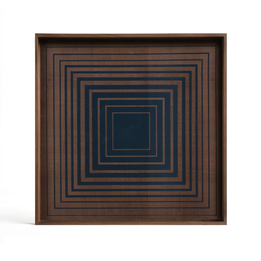 Ethnicraft - Vierkante dienbladen - Ink Squares glazen dienblad - S